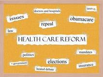 Healthcare Reform Corkboard Word Concept Stock Images