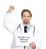 Healthcare reform now! Stock Image