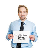 Healthcare reform now Royalty Free Stock Photos