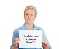 Healthcare reform now!! Royalty Free Stock Images