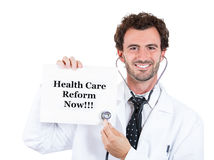 Healthcare reform now ! Stock Images