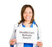Healthcare reform now! Royalty Free Stock Image