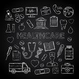 Healthcare set Royalty Free Stock Photography