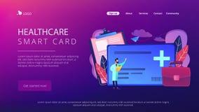 Healthcare smart card concept vector illustration. Stock Photos