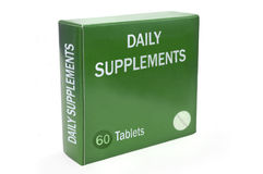 Healthcare supplement concept. Royalty Free Stock Image