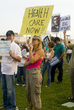 Healthcare supporters rally in Los Angeles Royalty Free Stock Photo