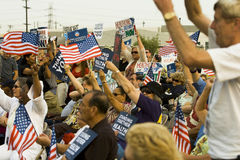 Healthcare supporters rally in Los Angeles Royalty Free Stock Photography