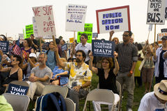 Healthcare supporters rally in Los Angeles Royalty Free Stock Images