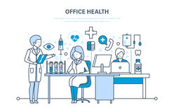 Healthcare system, office health, working atmosphere and health of employees. Royalty Free Stock Photo