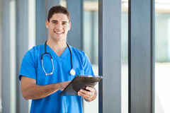 Healthcare tablet computer stock photography