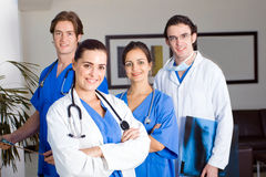 Healthcare team. Young healthcare team in hospital stock photography