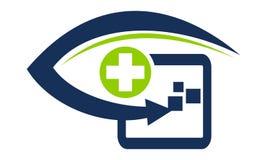 Healthcare Technology by Clinician. Logo Design Template Vector Stock Image