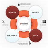 Healthcare Template. Healthcare vector template with icons and copy space Stock Images
