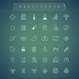 Healthcare Thin Icons Set Royalty Free Stock Photo