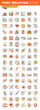 Healthcare thin line flat design web icons collection Royalty Free Stock Photos