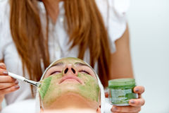 Healthcare treatment at the beauty salon Stock Photography