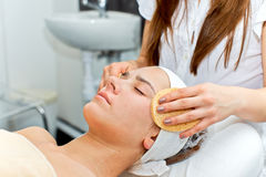 Healthcare treatment at the beauty salon Stock Photos