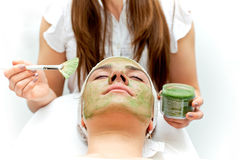 Healthcare treatment at the beauty salon Royalty Free Stock Image