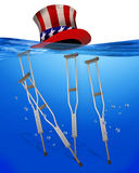 Healthcare underwater. Royalty Free Stock Photo