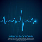 Healthcare vector medical background with heart cardiogram. Cardiology concept with pulse rate diagram Royalty Free Stock Photo