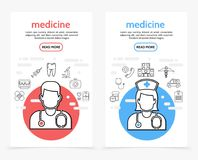 Healthcare Vertical Banners Royalty Free Stock Photos