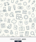 Healthcare wallpaper. Medical seamless pattern. Royalty Free Stock Image
