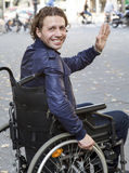 Healthcare: wheelchair user Royalty Free Stock Image