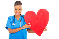 Healthcare worker heart Royalty Free Stock Images