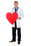 Healthcare worker heart symbol Stock Photo