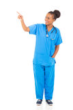 Healthcare worker pointing Stock Image