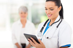Healthcare worker tablet Royalty Free Stock Photo