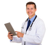 Healthcare worker tablet pc Royalty Free Stock Image