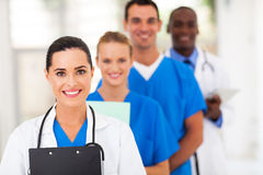 Healthcare workers. Group of healthcare workers line up Royalty Free Stock Images