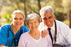 Healthcare workers senior Royalty Free Stock Images
