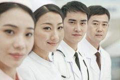 Healthcare workers standing in a row, China Royalty Free Stock Image