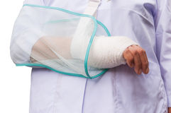 Healthcare wounded hand and bandages Royalty Free Stock Image