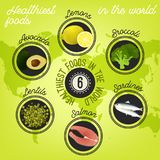 Healthiest food in the world Royalty Free Stock Images