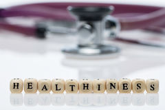 Healthiness; стетоскоп стоковые фотографии rf