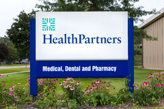 HealthPartners Clinic Sign and Logo. Headquarters Building Stock Photography