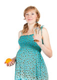 Healthy 8 months pregnant woman Royalty Free Stock Photography