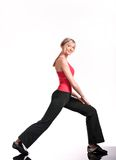 Healthy. Young woman doing fitness exercise royalty free stock photos
