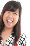 Healthy active body. Healthy asian woman open mouth Royalty Free Stock Photography
