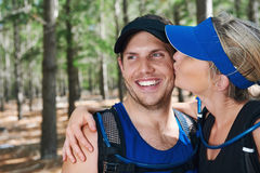 Healthy active couple Stock Photos