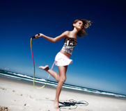 Healthy active girl stock images