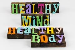 Healthy mind body health wellness mental physical activity