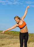 Healthy Active Young Blonde Woman Royalty Free Stock Image
