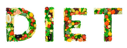 Healthy alphabet - DIET Stock Photography