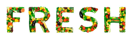 Healthy alphabet - FRESH Royalty Free Stock Photo
