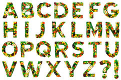 Healthy alphabet - FULL Royalty Free Stock Image