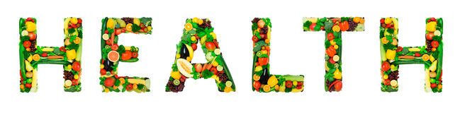 Healthy alphabet - HEALTH Stock Images